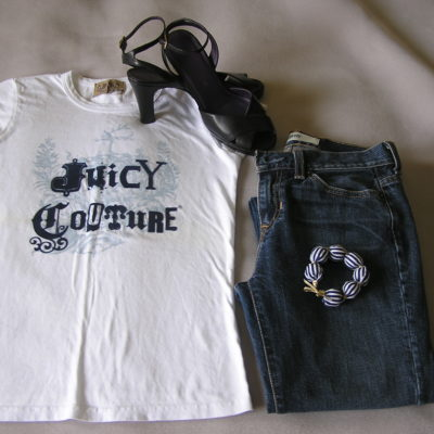 Today's Outfit: Juicy Couture Tee & Gap Jeans
