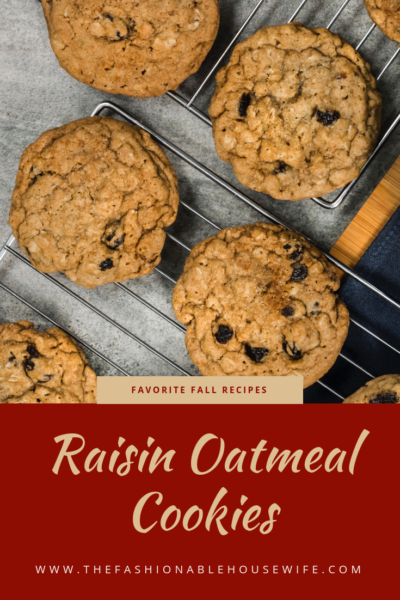 Favorite Fall Recipes: Raisin Oatmeal Cookies