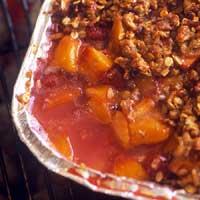 Nectarine Raspberry Crisp