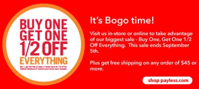 Payless – It's BOGO Time!