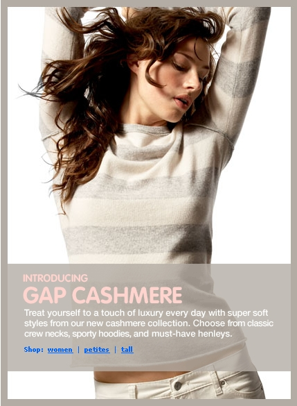 Gap – Cashmere Sweaters
