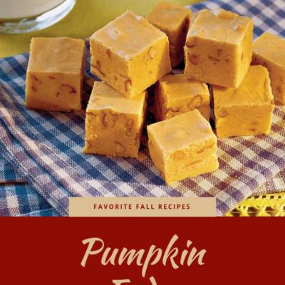 Favorite Fall Recipes: Pumpkin Fudge