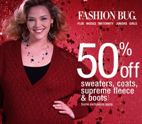 Fashion Bug – 50% off Winter Sale