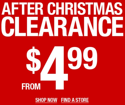Wet Seal – After Christmas Sale
