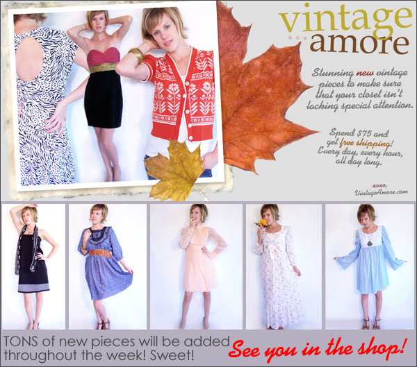 Vintage Amore:  Fall Items