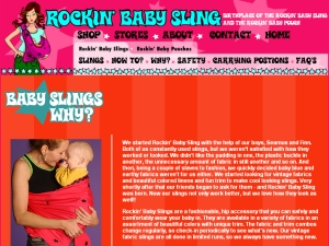 Rockin' Baby Ring Slings Are Reversible And Cute!