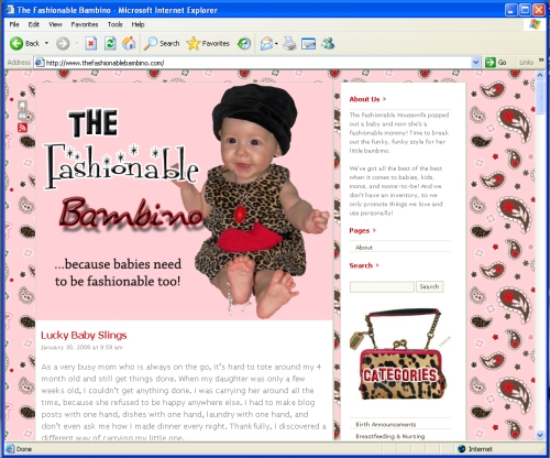 Sister Site:  The Fashionable Bambino