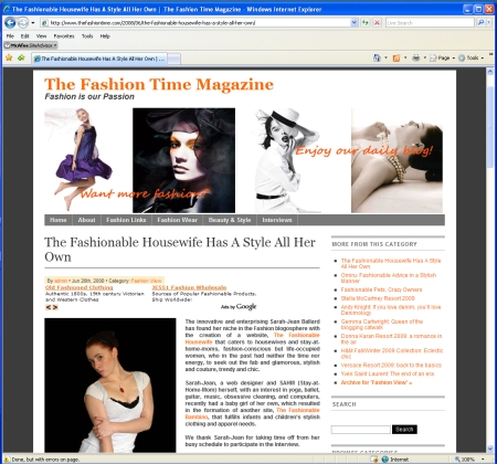 Our Interview In Fashion Time Magazine