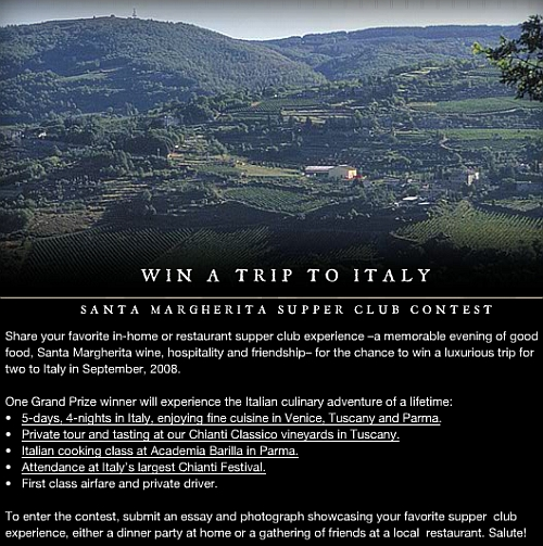 Want To Win A Trip To Italy?