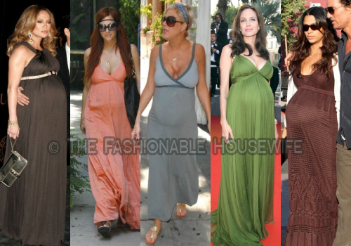 The Long Dress Trend For Moms-To-Be