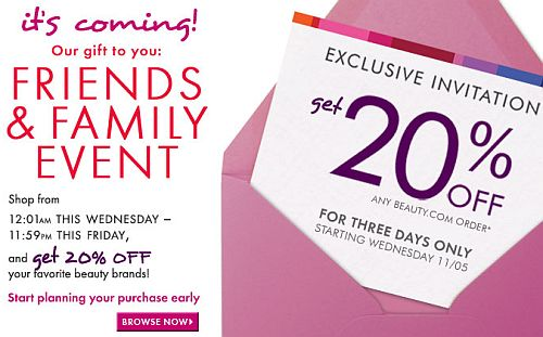 Beauty.com Friends and Family Discount