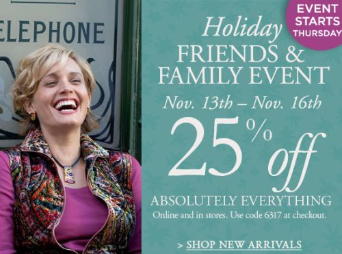 Get 25% Off At The Chico's Holiday Savings Event