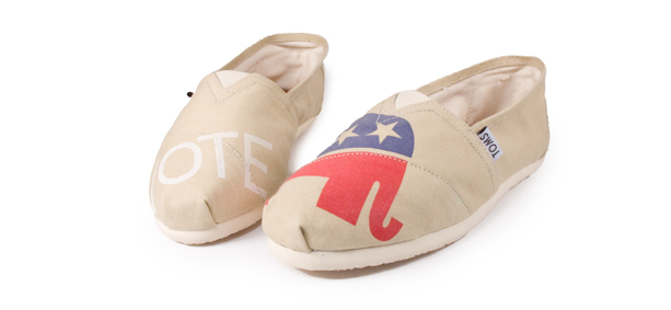 Vote Shoes from TOMS