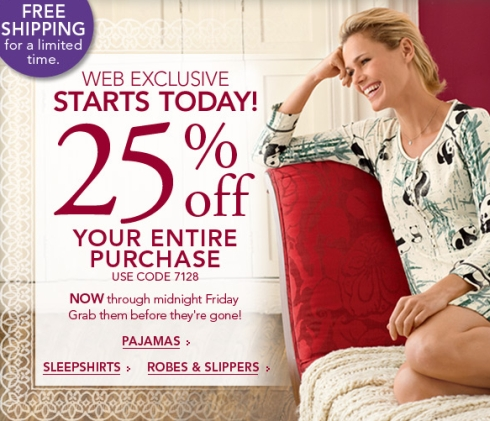 25% Off Entire Purchase at Soma Intimates