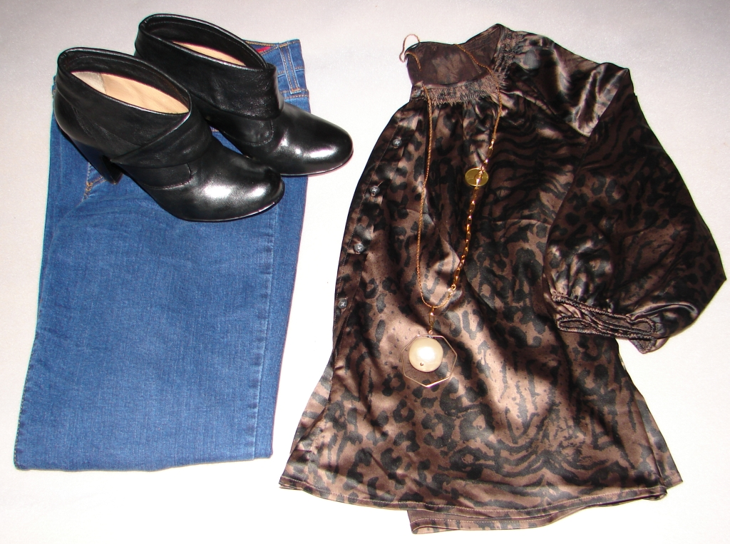 Today's Outfit: Animal Print Silk