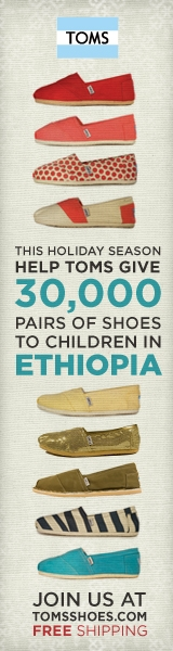 Buy Someone A Pair Of TOMS This Christmas!