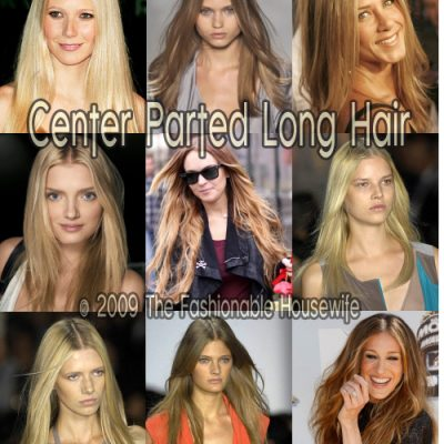 Spring 2009 Hairstyles: Center Parted Long Hair