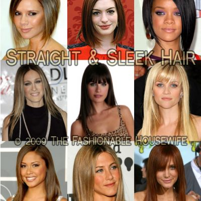 Spring 2009 Hairstyles: Straight and Sleek
