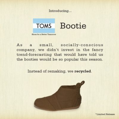 Introducing TOMS Vegan-friendly Bootie