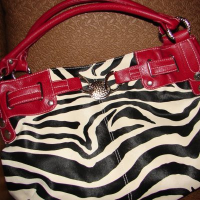 Zebra Striped Handbags are HOT!