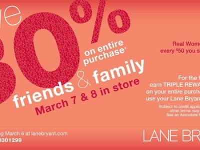 Lane Bryant Friends and Family Discount This Weekend!