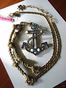 The Infamous Anchor Necklace Isla Fisher Wore In Confessions of A Shopaholic