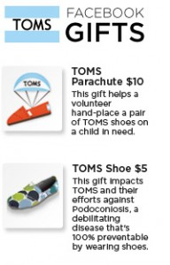 TOMS Shoes Celebrates Facebook's 200 Millionth User Milestone with Gifts!