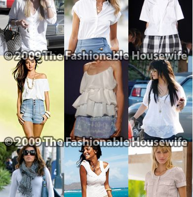 Plain White Tops Are Clean And Stylish