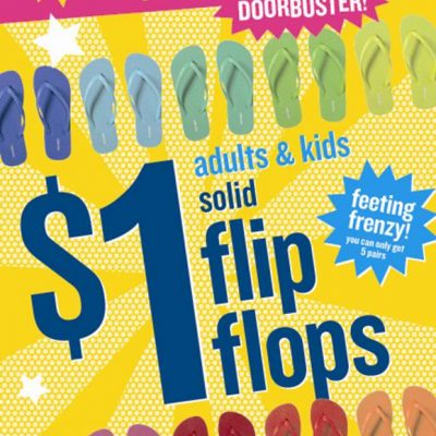 Old Navy Has FLIP FLOPS For $1 On Saturday, May 23rd Only!