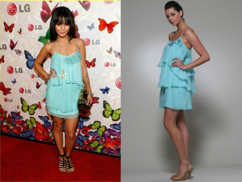 vanessa-hudgens-rose-spagetti-dress. The gorgeous Vanessa Hudgens attended