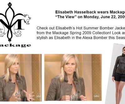 Elizabeth Hassleback's Stylish Bomber Jacket