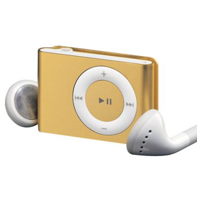 Father's Day Gift Idea: Gold Apple iPod Shuffle