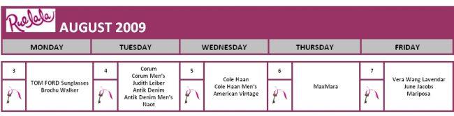 This Week's Boutique Schedule For Rue La La