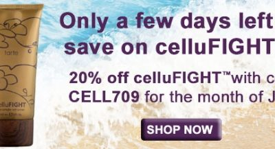 Take 20% off celluFIGHT & 55% off Your Thighs!