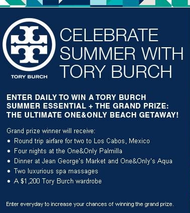 Enter The Tory Burch Summer Sweepstakes