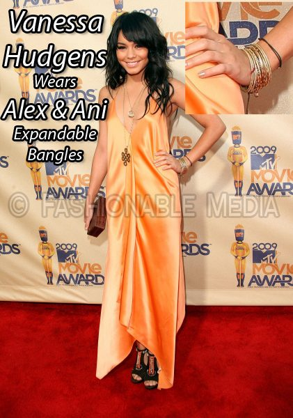 Vanessa Hudgens Wears Alex & Ani Expandable Bangles