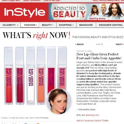 Lip-Gloss Gives Perfect Pout and Curbs Your Appetite!
