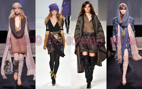 Fall 2009 Fashion Trends Luxe Hippie Boho The