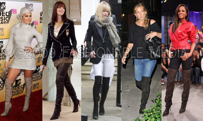 Over The Knee Boots Celebrities