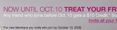 Join Rue La La and Get $10! Now until Oct 10th