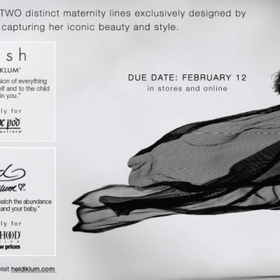 Announcing the Launch of Heidi Klum's Maternity Collections Exclusively for A Pea in the Pod and Motherhood Maternity