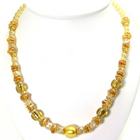 Murano Glass Necklace on The Fashionable Housewife