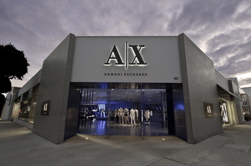 A X Armani Exchange Comes To L A S Robertson Boulevard