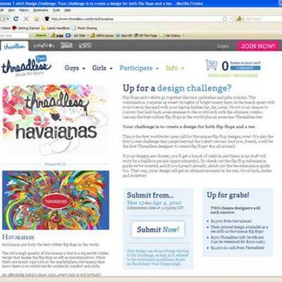Havaianas and Threadless.com Launch their Flip-Flop Design Challenge