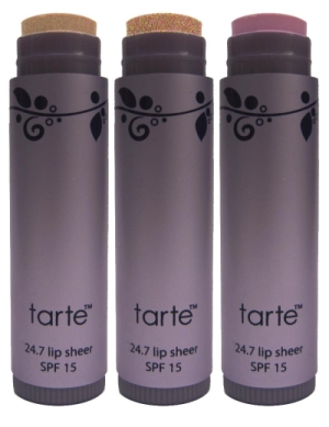 Protect Your Lips With tarte 24.7 Natural Lip Sheers with SPF 15
