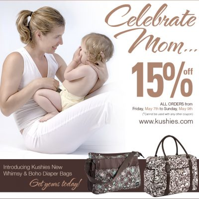 Kushies Introduces Diaper Bags and A Cool Mother's Day Giveaway