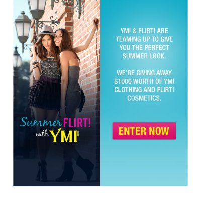 Win a New Summer Look with YMI and Flirt! Cosmetics