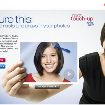 Clairol's Nice 'n Easy Root Touch-Up Photo Tool with Shutterfly.com