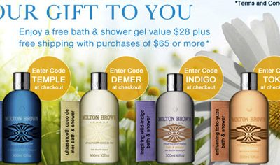 Gift With Purchase at Molton Brown!