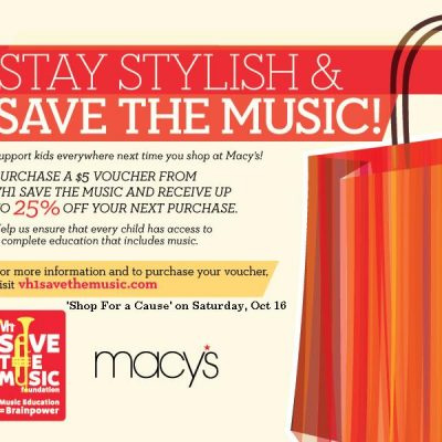 Shop and Benefit VH1's Save the Music Foundation